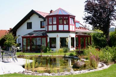 Gartenteich mit Terrasse- Gartengestaltung Frank Klemt