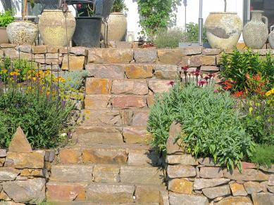 Natursteintreppe - Gartengestaltung Frank Klemt